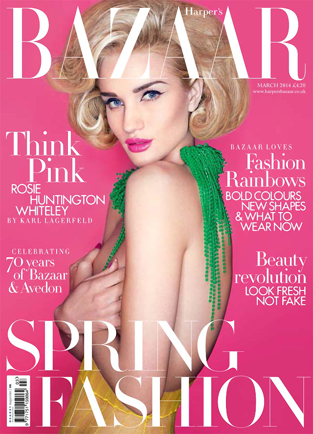 Rosie Huntington-Whiteley en Harper's Bazaar