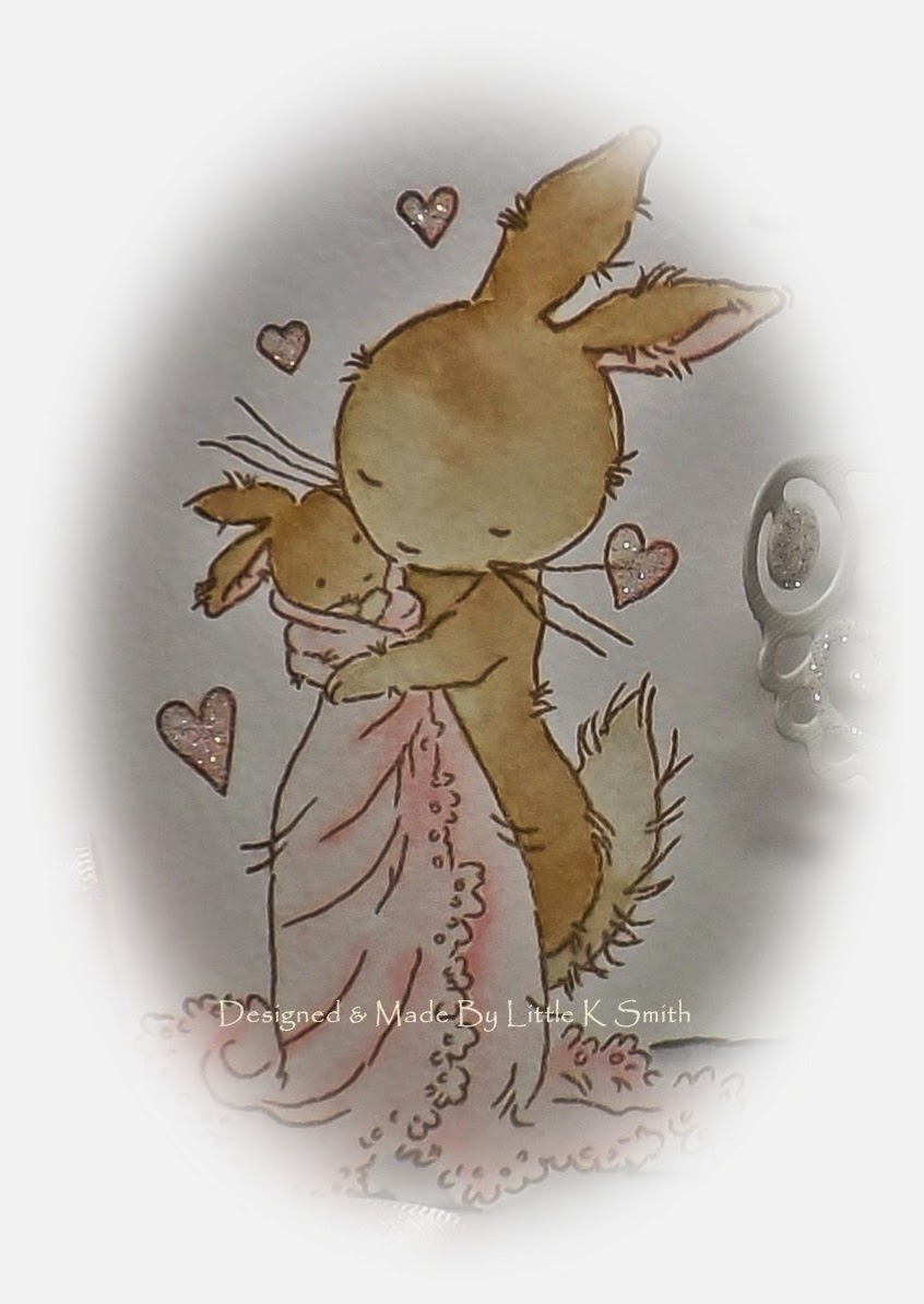 Little K Smiths Crafts February 2015 Hey Baby Pop Out Bunny Tee Kaos Anak Ive Coloured This Sweet Image With My Spectrum Aquas