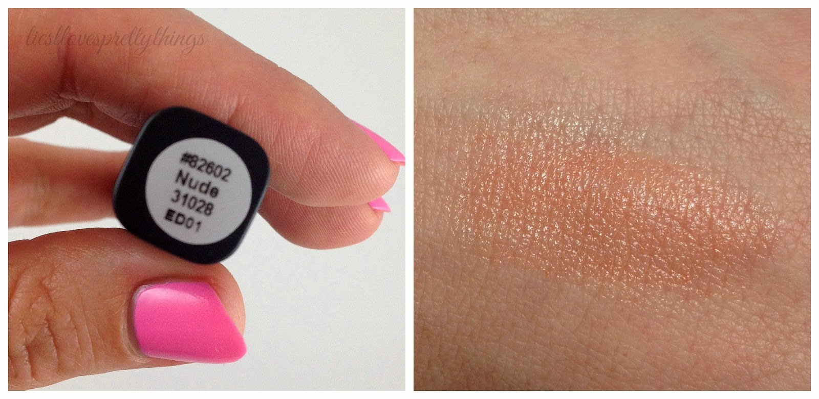 e.l.f. lip balm nude swatch and review