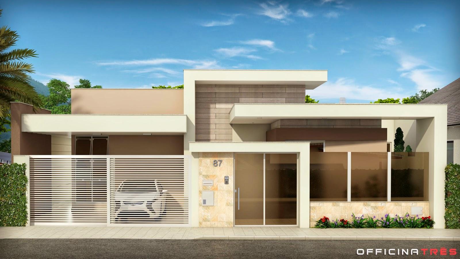 Officinatr S Casa Moderna Em Chal Mg