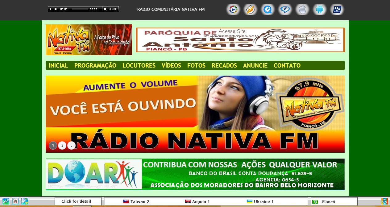 Rádio Comunitária de Piancó Nativa FM 87.9 Mhz