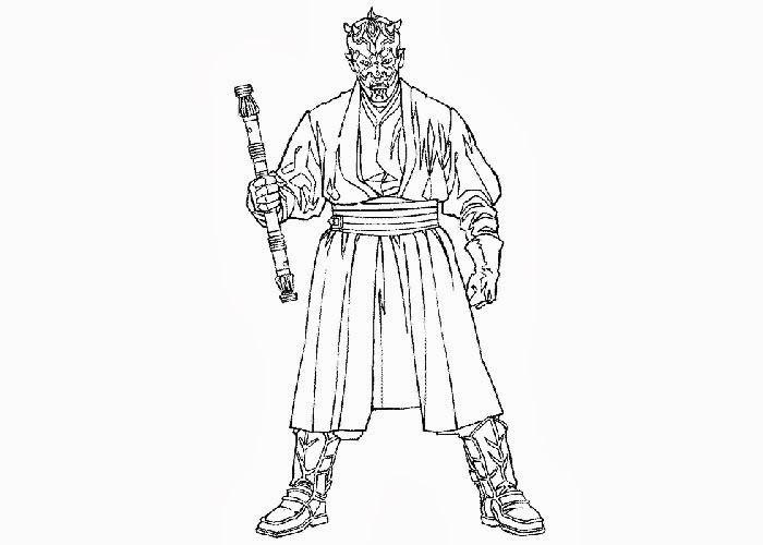 Star Wars Darth Maul coloring pages Free Coloring Pages and