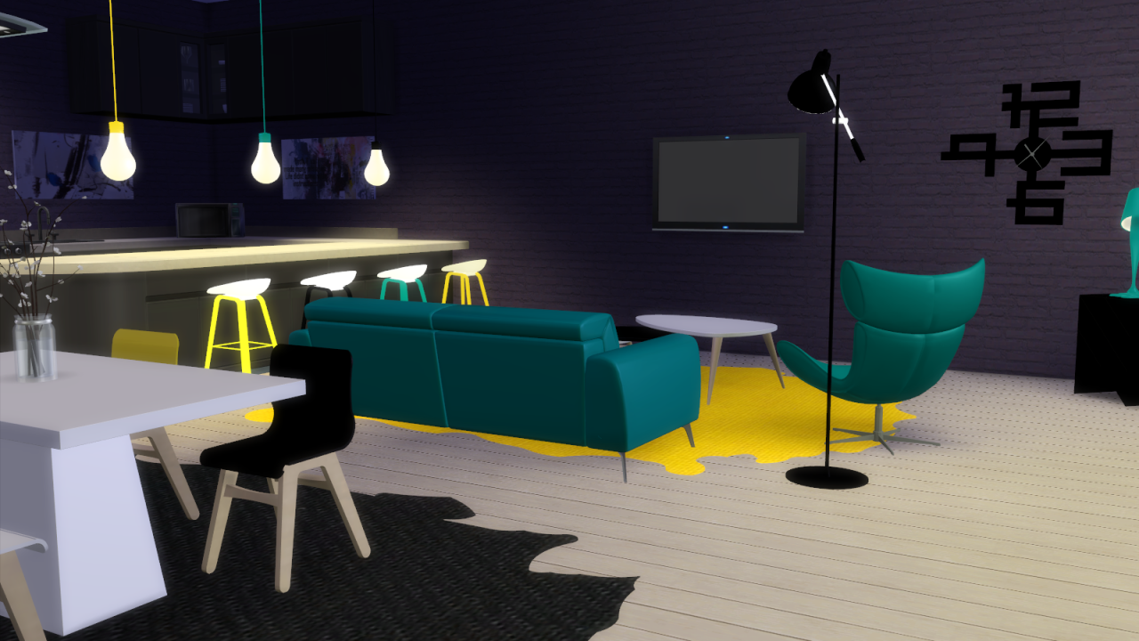 My sims 4 blog boconcept living room set 14 objects by for Bo concept