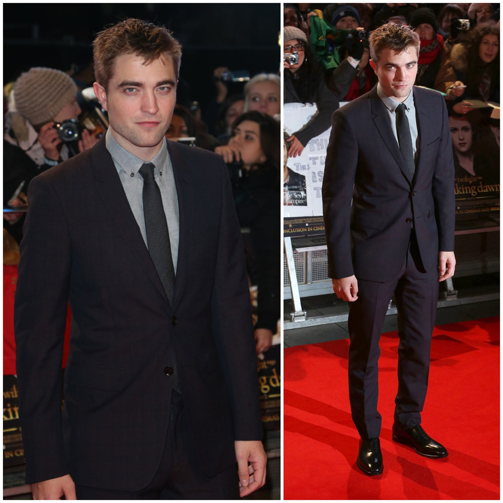 00O00 London Menswear Blog Celebrity Style Robert Pattinson in Burberry - London Premiere of Twilight: Breaking Dawn Part 2