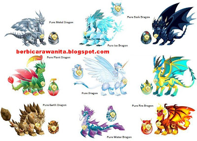 breeding antara dark dragon dengan pure dragon di breeding mountain