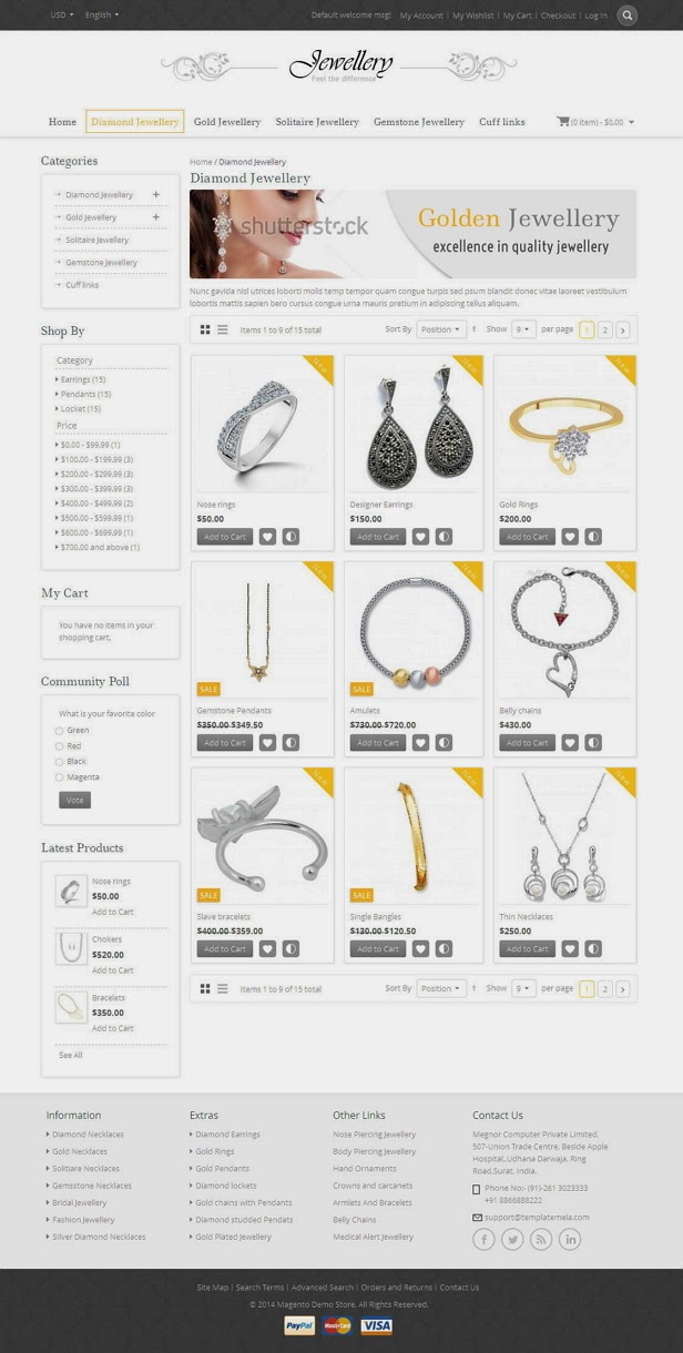 Jewellery website tempalte