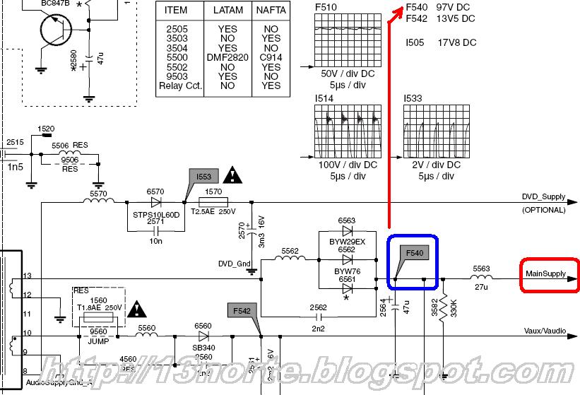 diagrama gratis de tv philips chasis l03 1laa