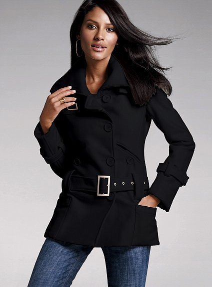 Victoria Secret Inspired Drop Waist Belted Wool Coat. Photo credit to  Victoria Secret