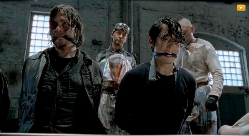 Daryl y Glenn en la 5ª temporada de The Walking Dead