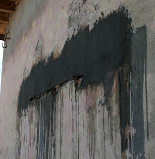 Finishing off the lintel