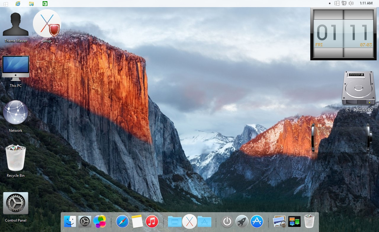 Apple OS X El Capitan Transformation Pack for Windows 7 / 8 / 8.1 / 10