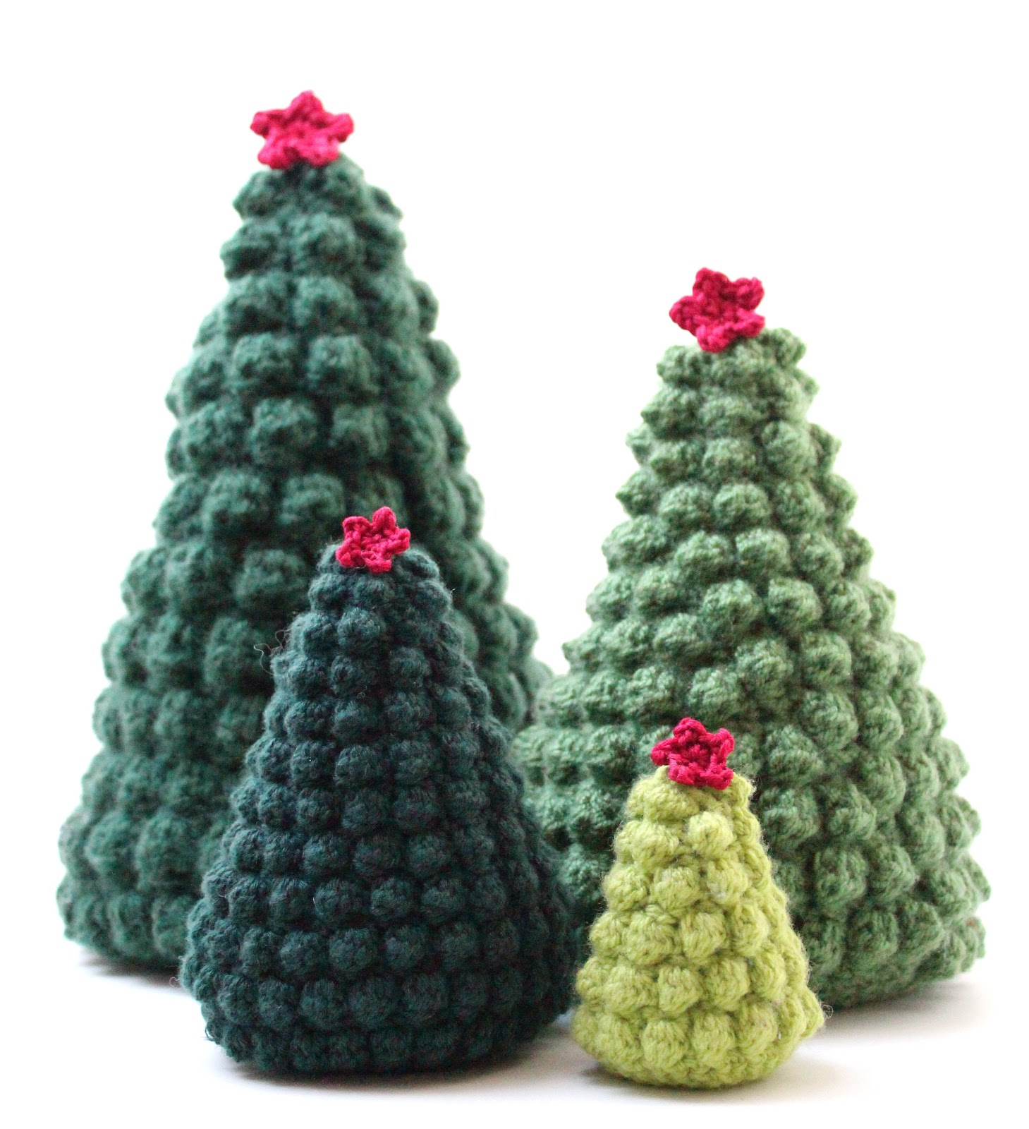 Free Crochet Patterns For Xmas Trees : According to Matt...: Creative Christmas: Crocheted Christmas Trees