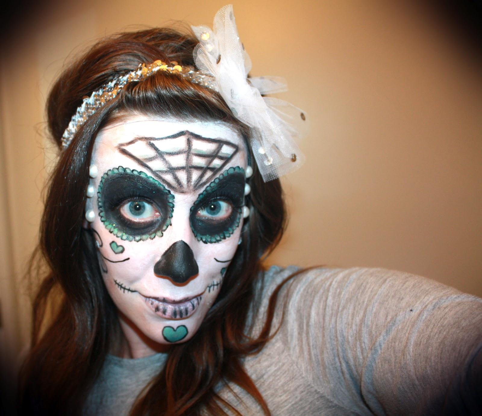 sugar skull makeup wallpaper - photo #16