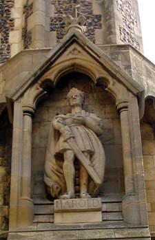 Estatua del último rey sajón