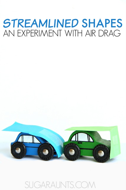 Experiment with streamlined shapes and airflow to discover drag.  This is a fun STEM activity for kids!
