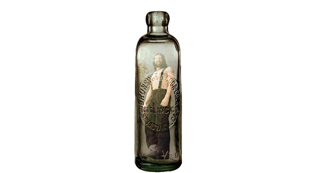 A man in a bottle