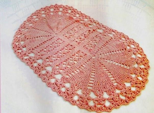 alfombra de ba o tejida al crochet   con diagrama y