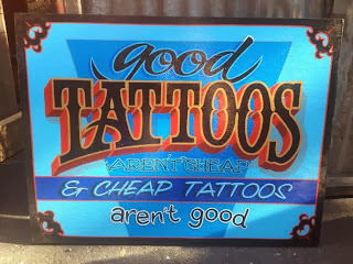 dobell signs tattoo traditonal signage sign painters canada north america