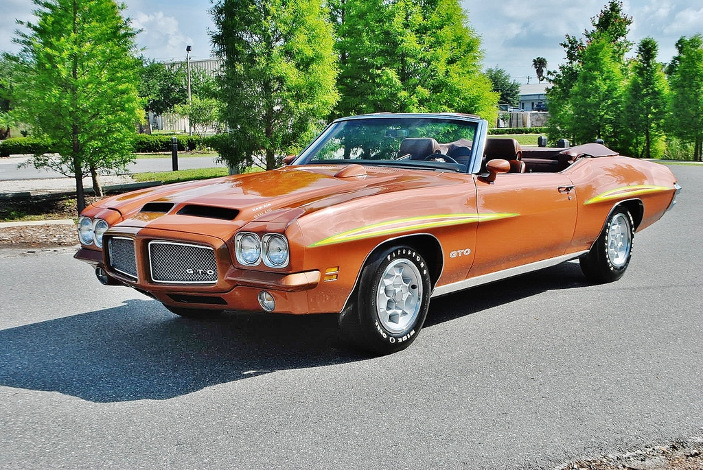 All American Classic Cars 1971 Pontiac Gto 2 Door Convertible