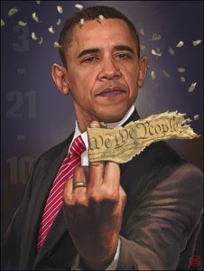 obama gives    constitution the  finger  gif