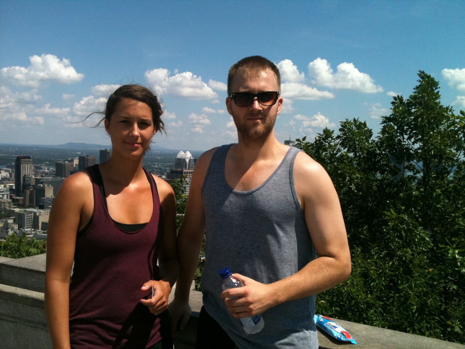 B Fisher Lloydminster Carly and I on Mont Royal in