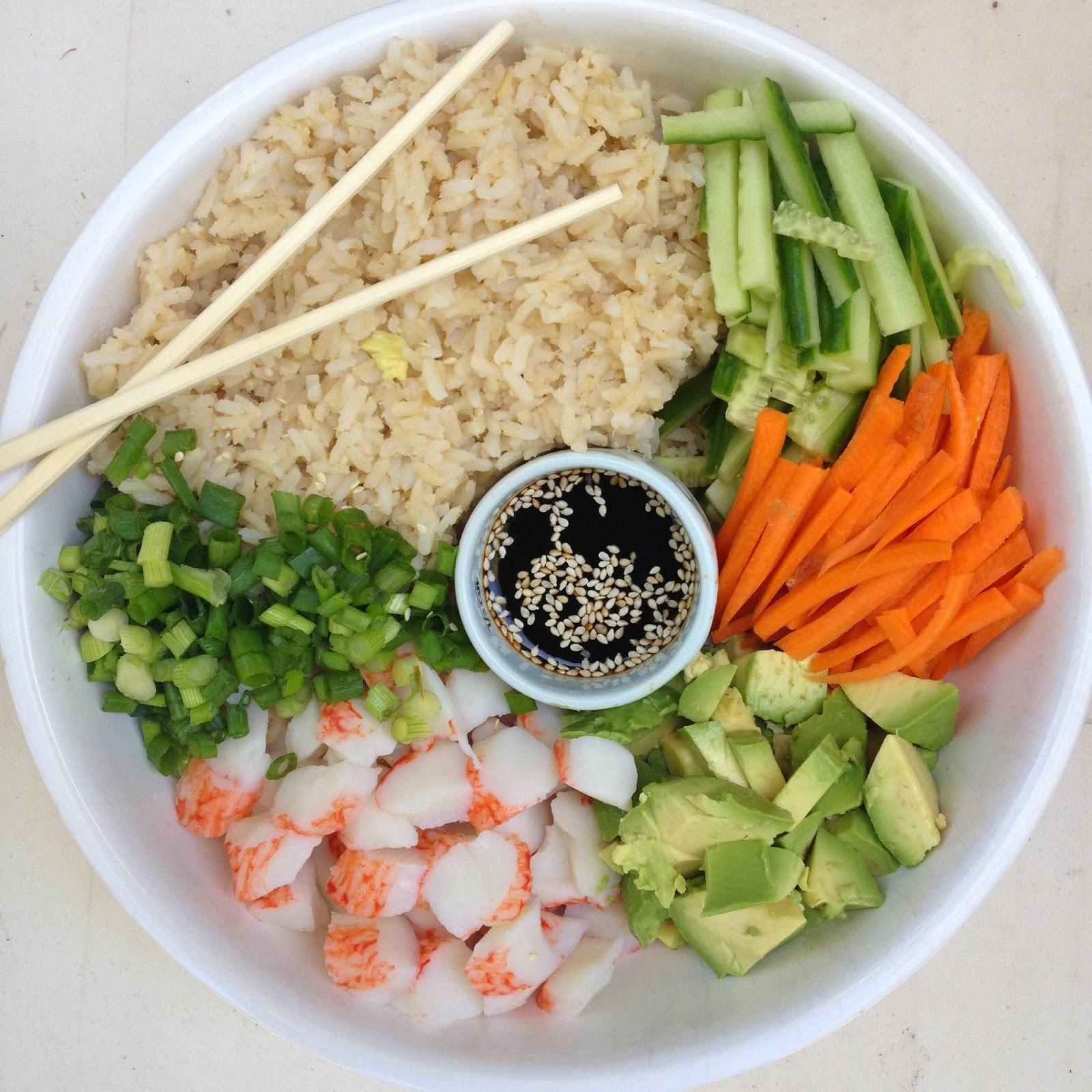 designer bags and dirty diapers: Brown Rice Sushi Bowls