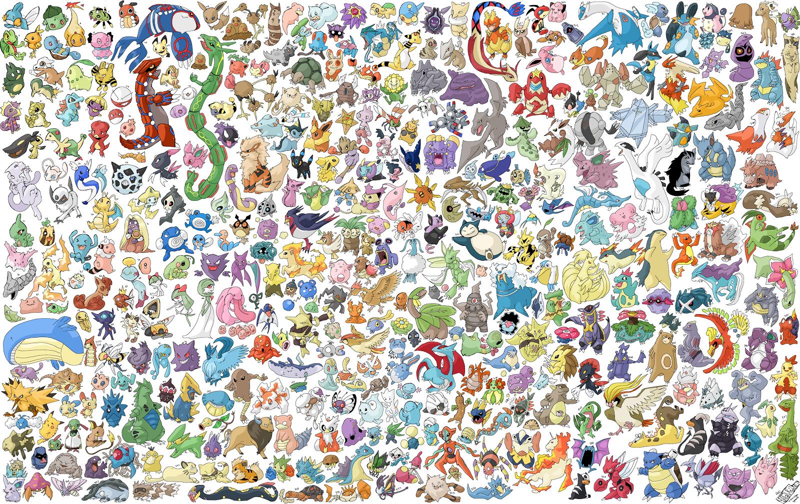 Every single pokemon picture every single pokemon wallpaper - Colorir E Pintar Todos Os Pokemon Tabela Colorida Raridade
