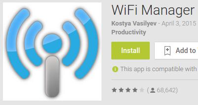 Contoh aplikasi Wifi Manager