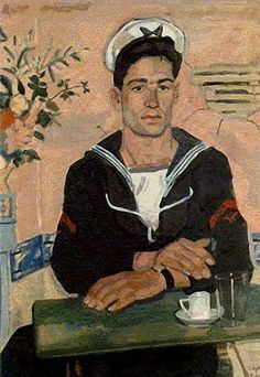 Painting by Greek Artist Yiannis Tsarouchis