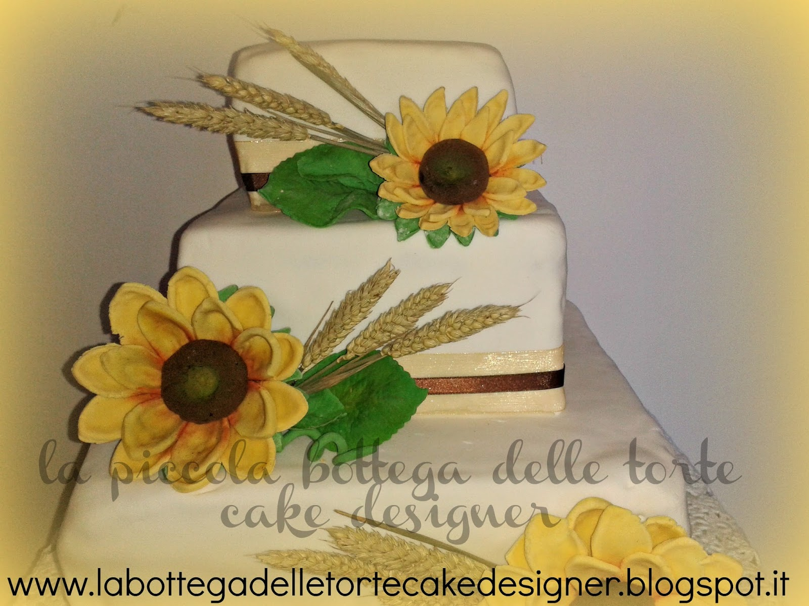 Torte Matrimonio Girasoli : La piccola bottega delle torte cake designer sunflowers