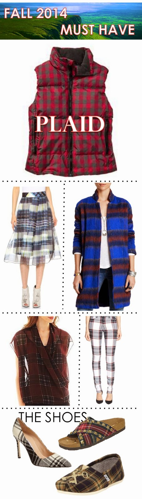 Fall Fashion 2014 Must Have: PLAID on thewellset.com