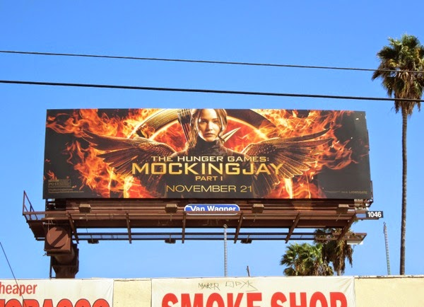 Hunger Games Mockingjay Part I movie billboard