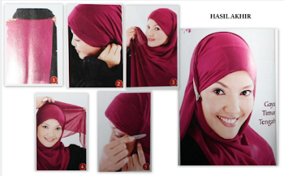 Cara Memakai Jilbab Ala Timur Tengah