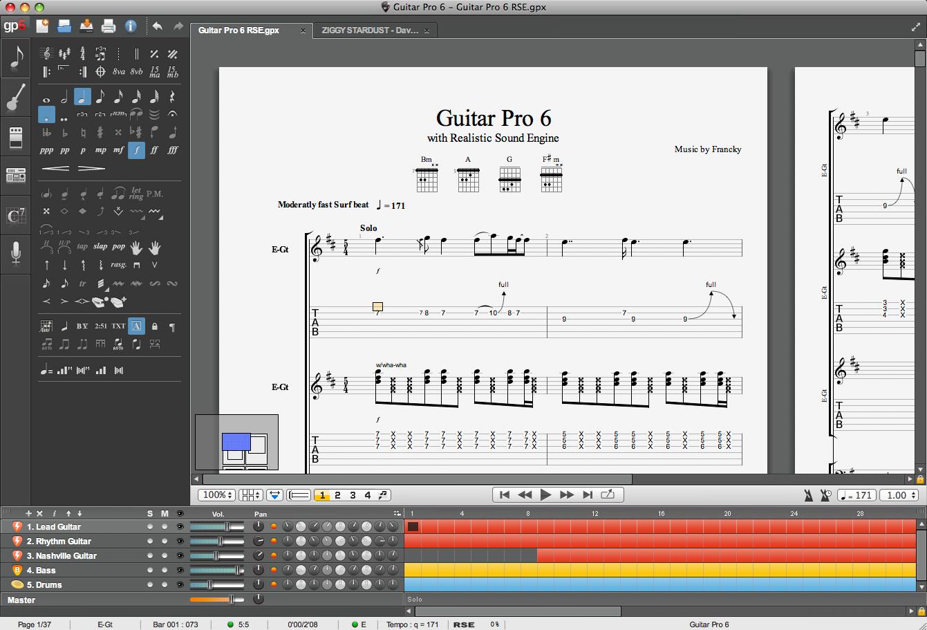 Screenshot Guitar Pro 6