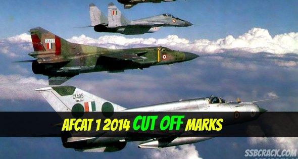 AFCAT 1 2014 Cut Off Marks