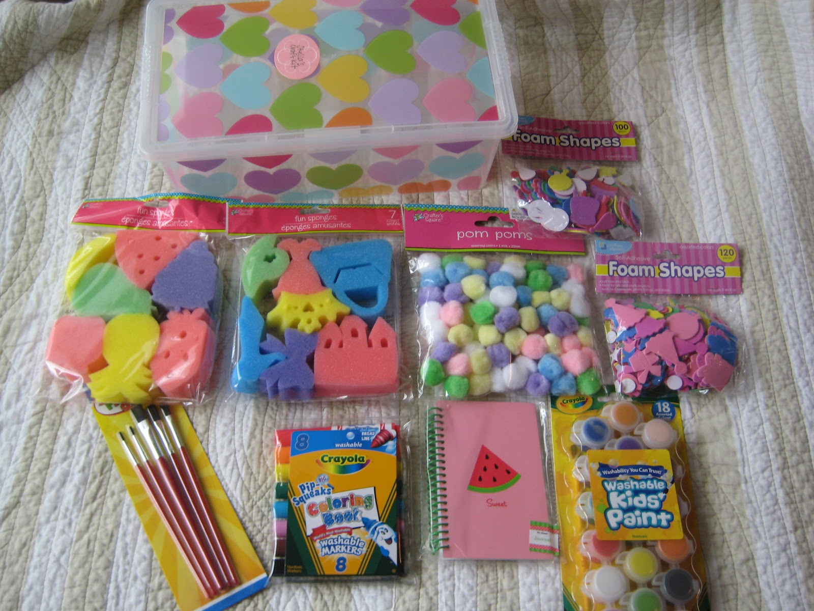 Craft kits for preschoolers -  Washable Non Toxic Truthfully The Whole Craft Kit Idea Came To Me When I Saw Those Stinkin Adorable Fruit Princess Themed Sponge Stamps