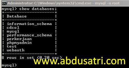 langkah-langkah membuat database dengan xampp