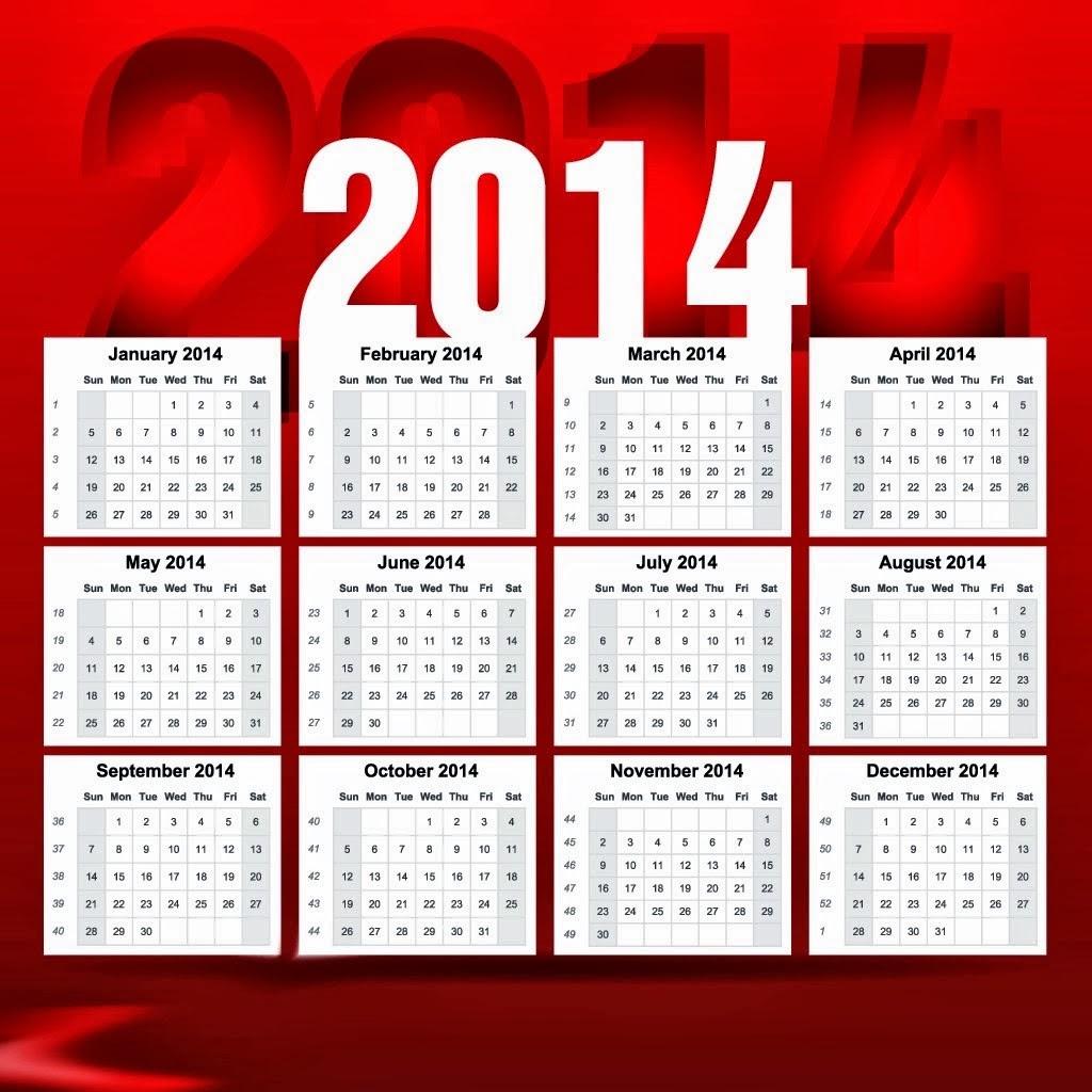 Desktop Wallpaper January 2014: New Year Desktop Calendars 2014- January To December