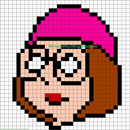 Minecraft Pixel Art Templates: Meg Griffin (family guy)