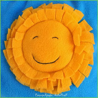 Подушка-солнышко