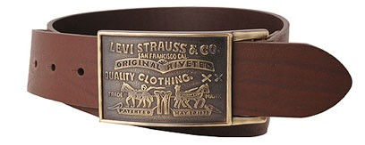 NWT NEW WITH TAGS LEVI'S MENS LEATHER BELT - BROWN (11LV0253)