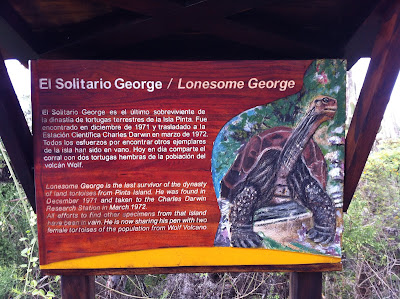 Lonesome George - Sign Near Pen