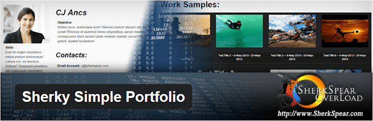 Sherky Simple Portfolio plugin