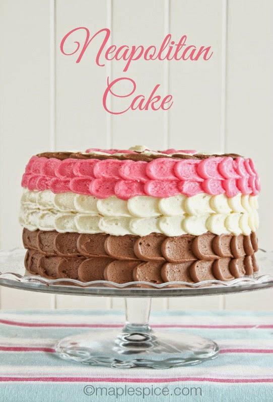 Neapolitan Layer Cake - all vegan!