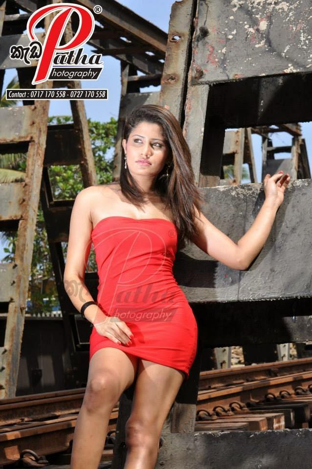 Oshadi Himasha red sexy