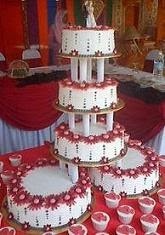 5tier Wedding Cake Buttercream + (32pcs cuppies FOC)