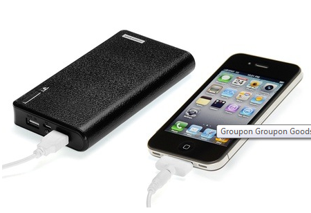 Groupon : Black 15600mAh Power Bank for Rs.1999
