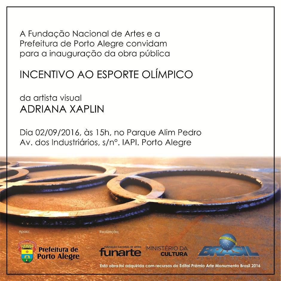 Arte Monumento Brasil2016 - Adriana Xaplin - Porto Alegre - RS