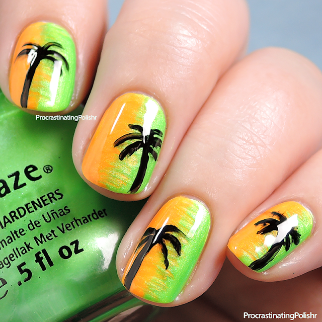 Best Nail Art of 2015 - Tropical Neon
