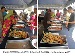 Majlis Sambutan Aidilfitri Surau Saidina Ali 2012 anjuran bersama KRT
